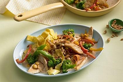 Hähnchen-Gemüse-Kokospfanne 2