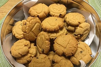 Saftige Erdnussbutter - Cookies 10