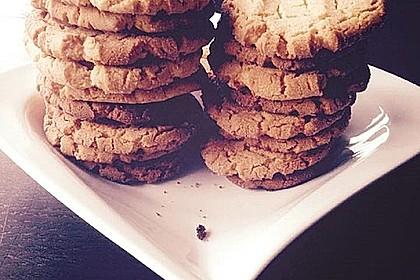Saftige Erdnussbutter - Cookies 15