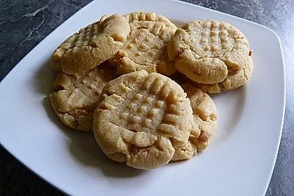 Saftige Erdnussbutter - Cookies 21