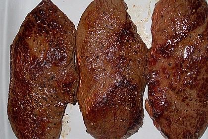 Rindersteaks -sanft garen mit Niedrigtemperatur 23