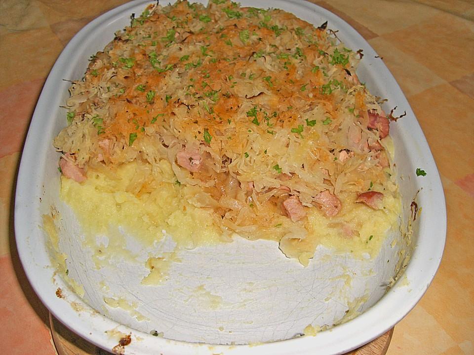Sauerkrautauflauf Kartoffelpüree