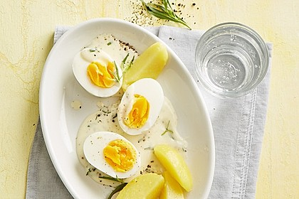 Eier in Estragonsauce 3