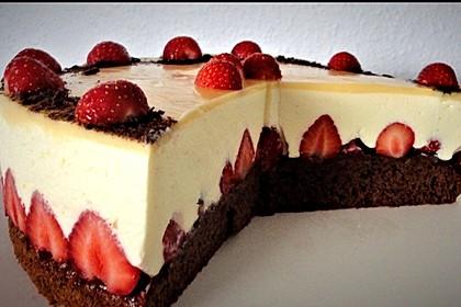 Erdbeer - Schoko - Torte mit Eierlikörspiegel