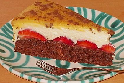 Erdbeer - Schoko - Torte mit Eierlikörspiegel 2