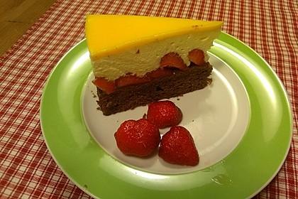 Erdbeer - Schoko - Torte mit Eierlikörspiegel 1