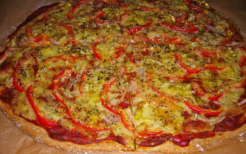 vegane pizza mit hefeschmelz rezept mit bild von fahn. Black Bedroom Furniture Sets. Home Design Ideas