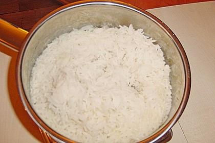 Putengeschnetzeltes auf Mango - Curry - Reis 1
