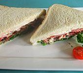 Rucola - Pilz Sandwich mit Serrano