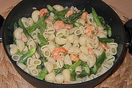 Pasta mit Spargel und Garnelen 2
