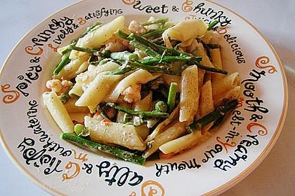 Pasta mit Spargel und Garnelen 4