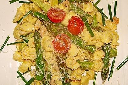 Pasta mit Spargel und Garnelen 9