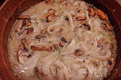 Tintenfisch - Spaghetti mit Limettensauce und Salbei