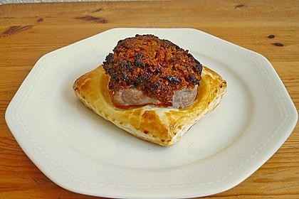 Filetkissen mit Tomaten - Basilikum - Parmesankruste