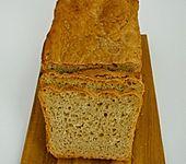 Weizenvollkornbrot mit Hefe (Bild)