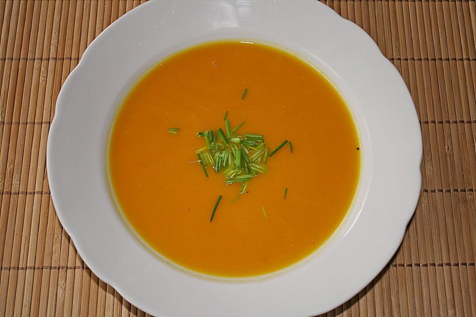 schnelle kürbissuppe mit sahne (rezept mit bild) | chefkoch.de - Kürbissuppe Rezept Chefkoch