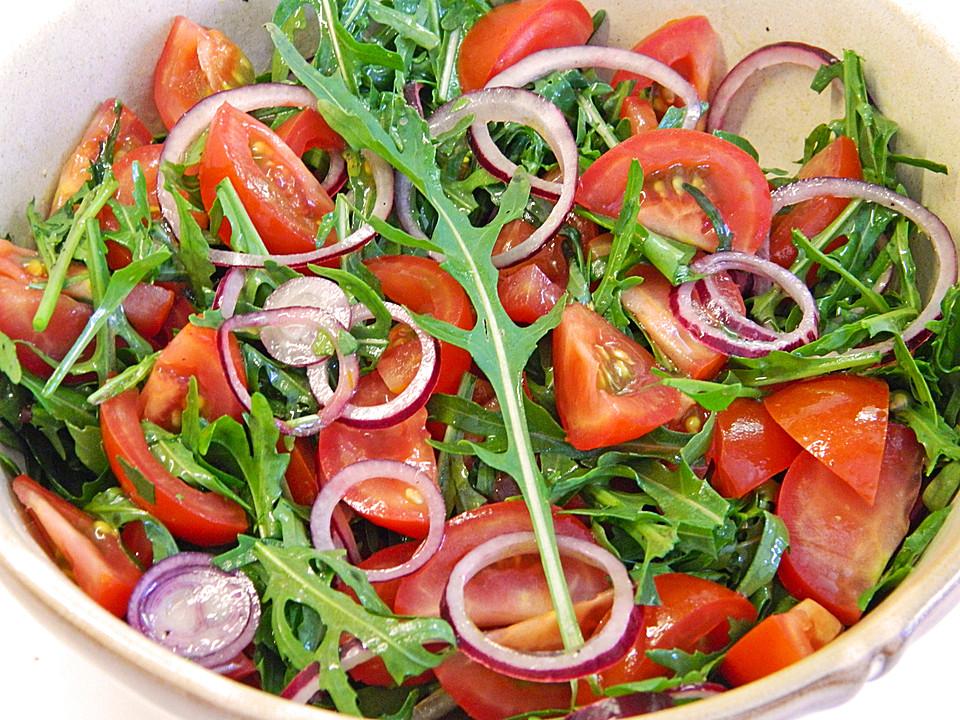 tomaten rucola salat rezept mit bild von claudiamaria1973. Black Bedroom Furniture Sets. Home Design Ideas