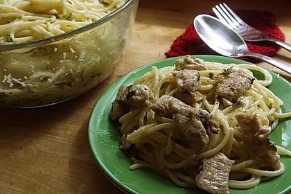 Zitronenspaghetti mit Kräutergarnelen 44