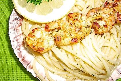 Zitronenspaghetti mit Kräutergarnelen 20