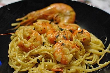 Zitronenspaghetti mit Kräutergarnelen 6