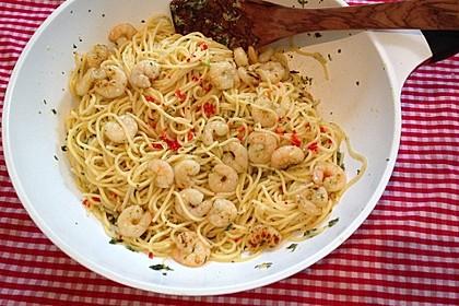 Zitronenspaghetti mit Kräutergarnelen 29