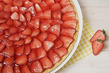 Erdbeertarte mit weißer Schokoladencreme 8