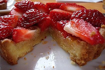 Erdbeertarte mit weißer Schokoladencreme 22