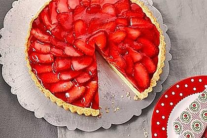 Erdbeertarte mit weißer Schokoladencreme