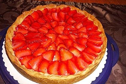 Erdbeertarte mit weißer Schokoladencreme 14