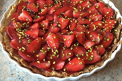 Erdbeertarte mit weißer Schokoladencreme 20