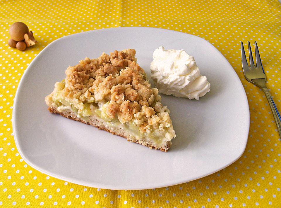 Nuss kuchen mit streuseln und obstkompott rezept mit for Kuchen mit bild