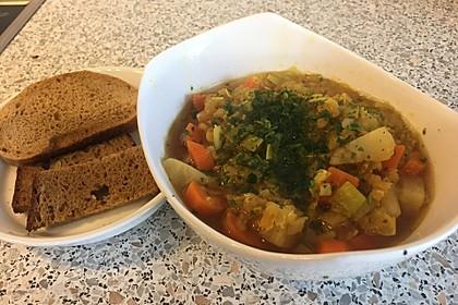 Karotten-Linsen Suppe 2
