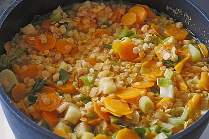Karotten-Linsen Suppe 1