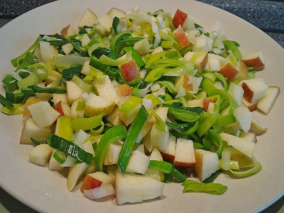 Salat mit apfel und lauch