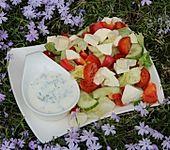 Gemischter Salat mit Joghurtdressing (Bild)