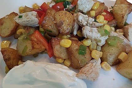 Western Kartoffelsalat mit Hähnchen 1