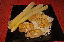 Schweinefilet mit Käse gespickt in Joghurtsauce