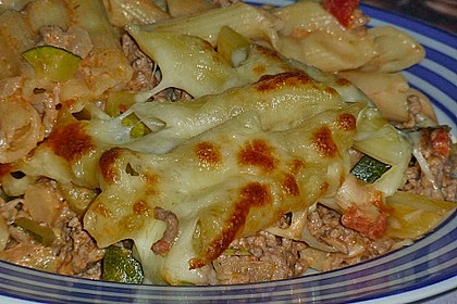 Nudel - Zucchini - Hackfleisch - Auflauf 2