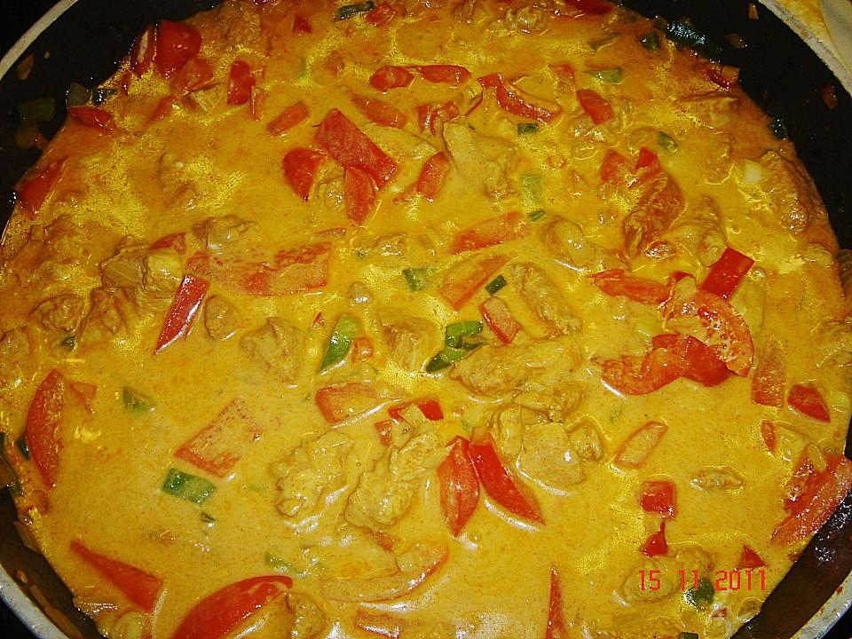Kochrezept curry huhn
