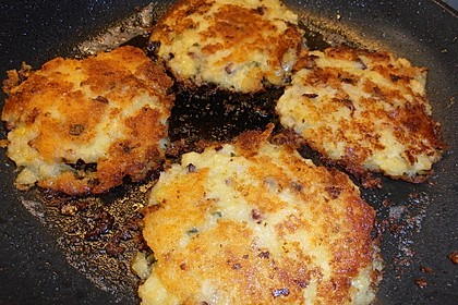 Kartoffelpuffer aus Kartoffelbrei 9