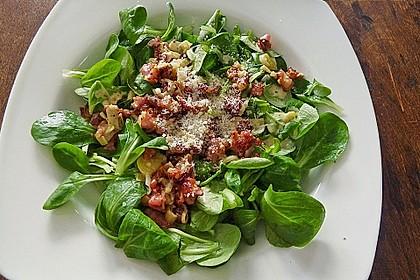 Feldsalat mit Orangen-Speck Sauce 3