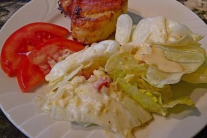 Feldsalat mit Orangen-Speck Sauce 2