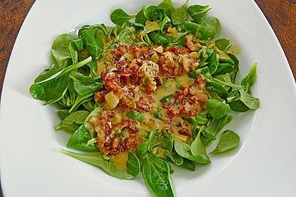 Feldsalat mit Orangen-Speck Sauce 1