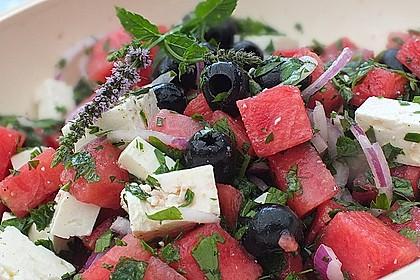 Mediterraner Melonensalat
