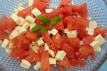 Mediterraner Melonensalat 14