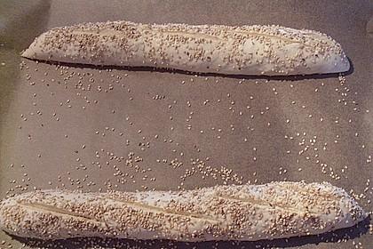 Frischkäsebrotstange mit Sesamkruste 32