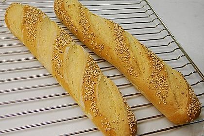 Frischkäsebrotstange mit Sesamkruste 5