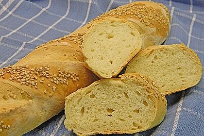 Frischkäsebrotstange mit Sesamkruste 3