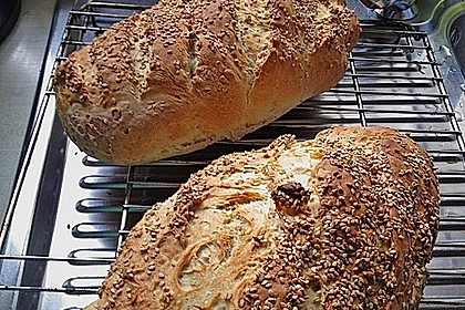 Frischkäsebrotstange mit Sesamkruste 19