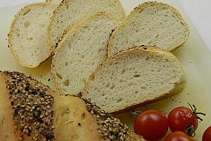 Frischkäsebrotstange mit Sesamkruste 4